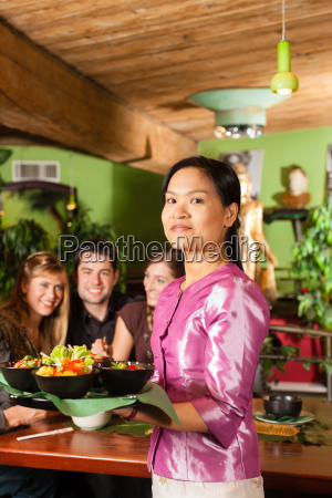 young people with eating operation in