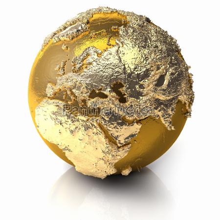 gold globe europa
