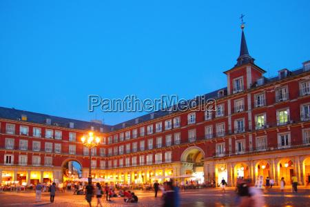 madrid plaza mayor typischen platz in