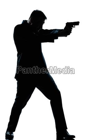 silhouette mann in voller laenge schiessen