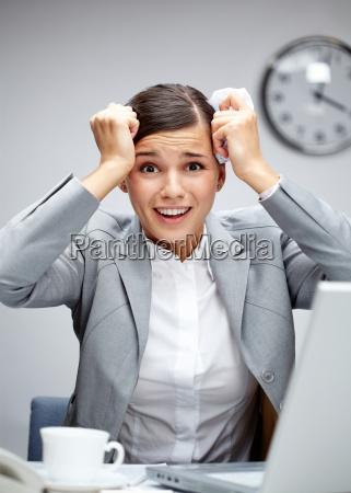 shocked female