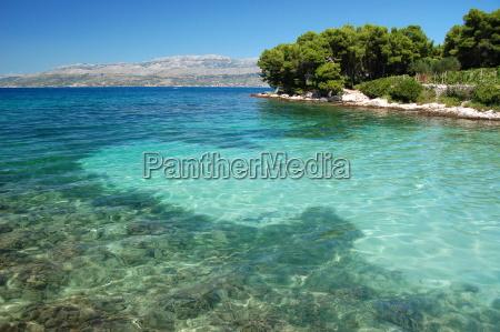 strand bucht kroatien idyll idylle dalmatien