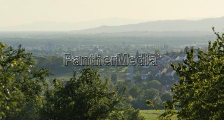 panoramic view around emmendingen
