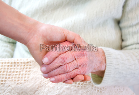 old and young hands