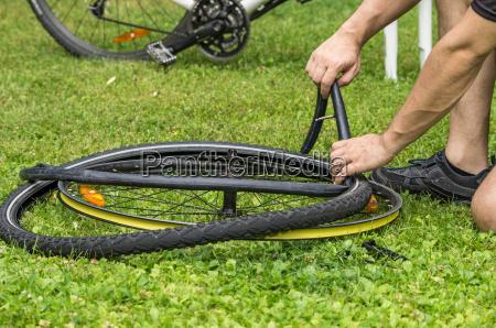 defekter fahrradschlauch