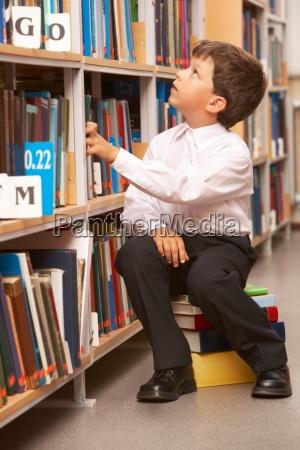 schueler in der bibliothek