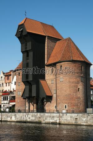 the crane gate in gdansk gdansk
