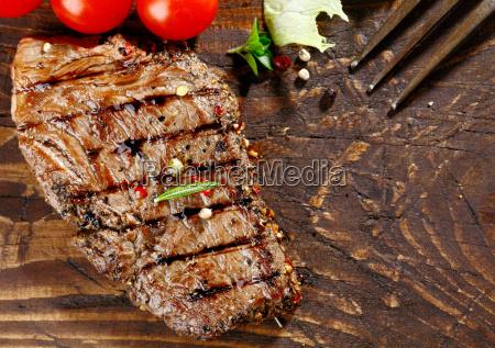 juicy grilled beef steak