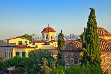 church in plaka area athens