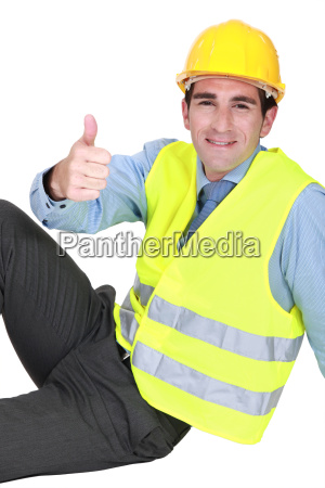 engineer giving the thumbs up