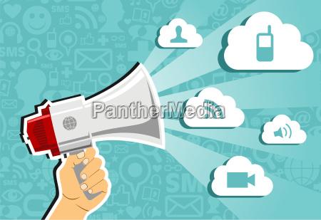 cloud computing marketing concept