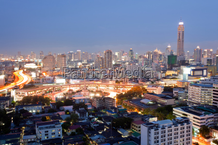 bangkok skylines der innenstadt