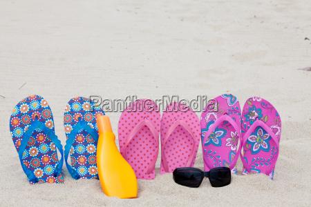 badetag on the beach