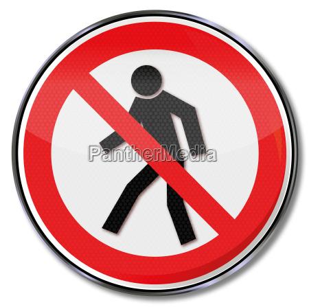 forbidden road sign crossing