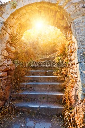 alte steintreppen in die palamidi festung