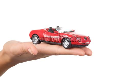 auto auf der hand