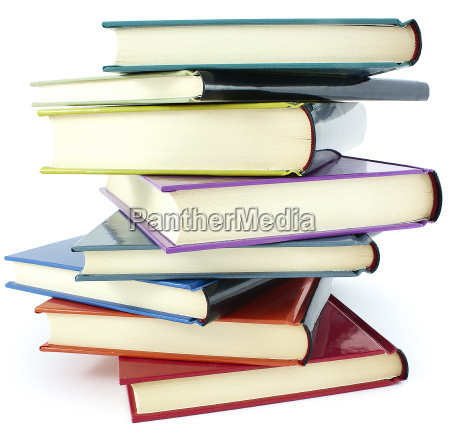 pila di libri di colore