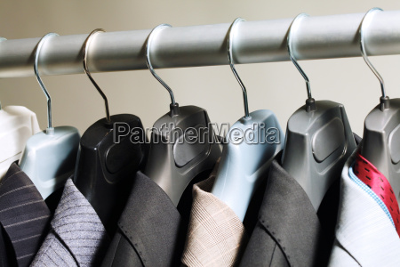 hangers with suits