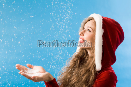 enjoying snowfall