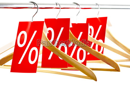hangers with tags