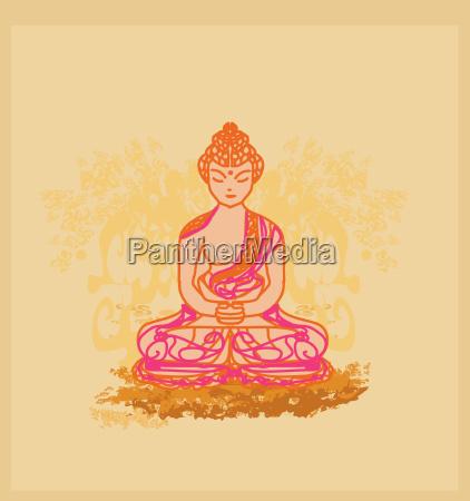 vektor der chinesischen traditionellen kuenstlerischen buddhismus