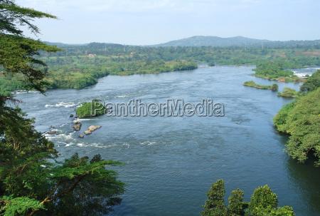 around bujagali falls in uganda
