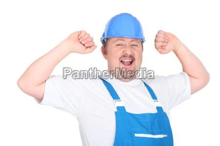 glücklicher, handwerker - 7244613