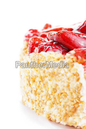 part of a strawberry pie