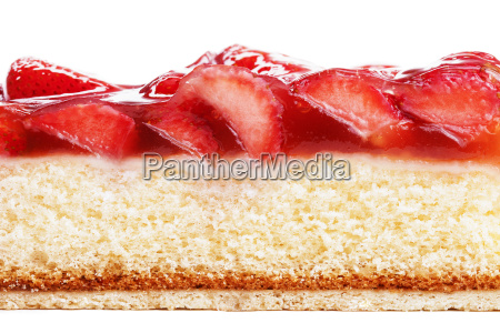 side of a strawberry cake