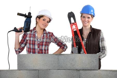 a team of tradeswoman