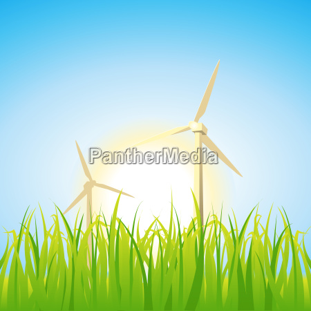 spring and summer windmills