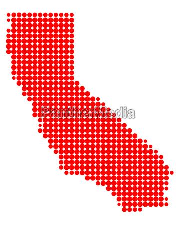 karte von kalifornien