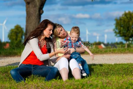 familie grossmutter mutter und kind