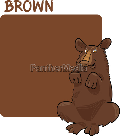 color brown and bear cartoon