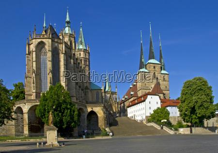plaza de la catedral en erfurt