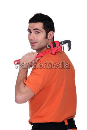 a handyman with a wrench