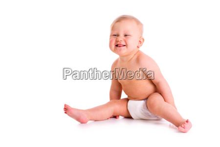 studio aufnahme von baby in windel