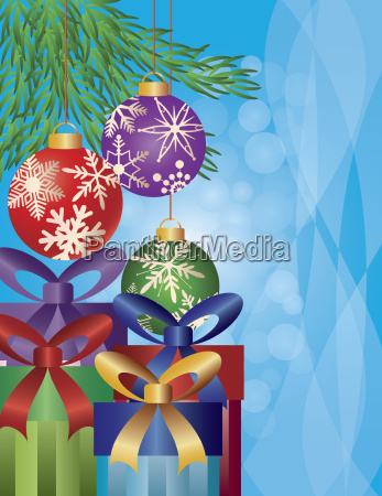 presents under the christmas tree illustration