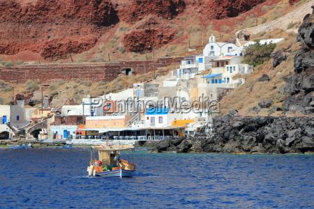 thirassia harbor santorin griechenland