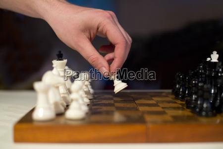 tafel auf schachzug steckplatte gremium machend