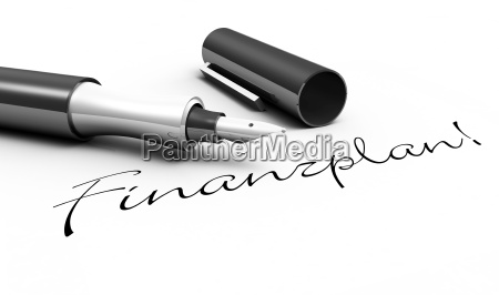 financial plan pen concept
