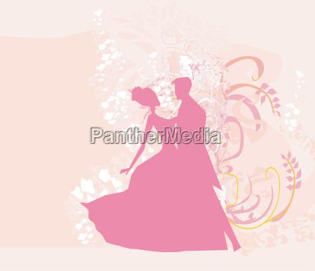 musik romantisch silhouette silhoutte schattenbild taenzer