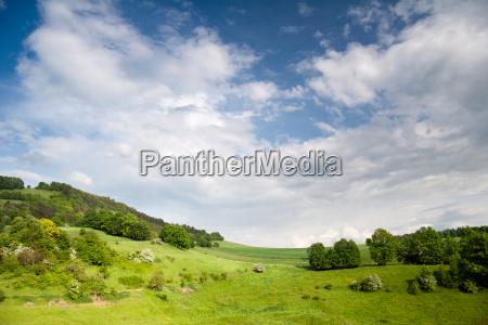 thuringian landscape at leuchtenburg