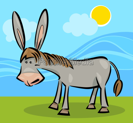 cartoon illustration of donkey