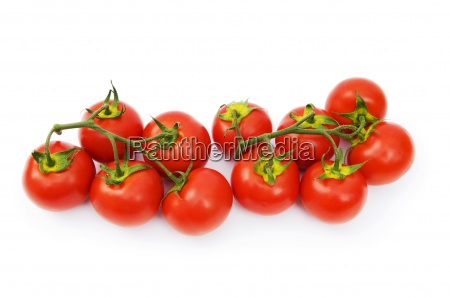 red tomatoes isolated on the white