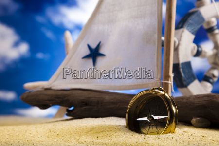 sailboat concept holiday summer beach background