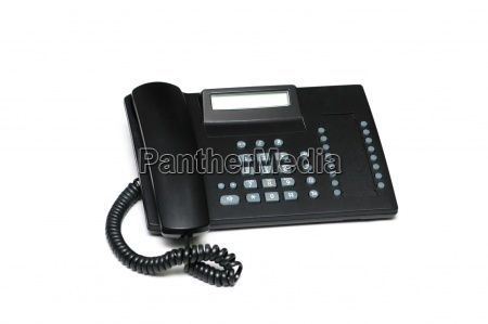 office phone isolated on the white