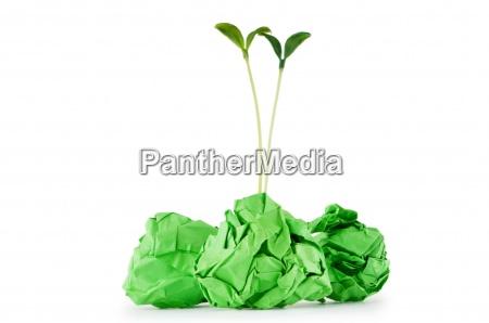 das recycling von papier konzept mit