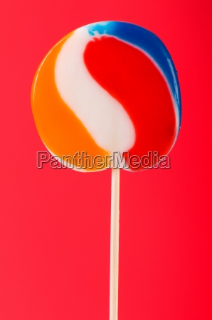 colourful lollipop against the colourful background