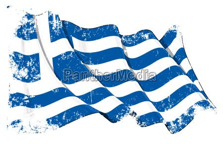 grunge flagge von griechenland